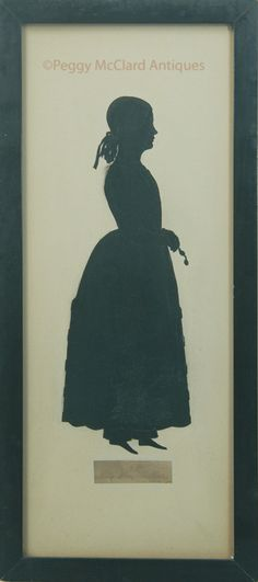 Silhouettes - Antique Silhouette by Edouart of Abby May of Boston - Antique Silhouette by Edouart of Abby May of Boston