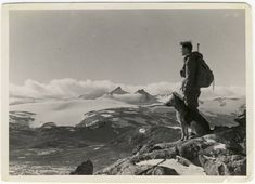 Norwegian resistance fighter, on the mountainous border between Sweden and Norway, being part of Operation Sepals during WWII