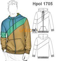 POLERON SUDADERA URBANA HOMBRE Fashion Sketch Template, Fashion Design Sketches, Clothing Sketches, Mode Streetwear, Couture Sewing, Jacket Pattern, Suit Fashion, Boys Shirts, Colorful Fashion