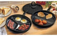 Cook up a storm with a Divider Frying Pan Set Non-stick set designed for cooking several items at the same time Set contains two frying pans Perfect Fry, Pan Sizes, Salmon Dinner, Cook Up A Storm, Stoke On Trent, Different Recipes, Fries, Oven, Frying Pans
