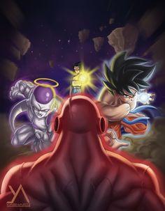 Goku, Frieza and Android 17 vs Jiren, Dragon Ball Super