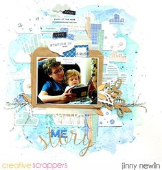"Layout by Jinny Newlin uses ""A Walk in the Bath"" cut file from The Cut Shoppe."