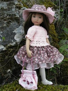 """~IN THE PINK!~ by Tuula fits Dianna Effner 13"""" Little Darling to a """"t""""!"""