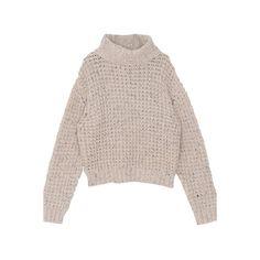 Nude Turtleneck Sweater ($50) ❤ liked on Polyvore featuring tops, sweaters, shirts, nude, turtle neck sweater, brown turtleneck sweater, acrylic sweater, polo neck sweater and brown tops