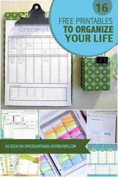 16 Free Printables to Organize Your Life