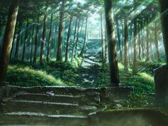 Stairs leading up to the sacred. Another breathtaking ghibli wallpaper.