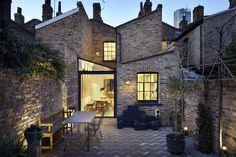 Glazed extension and herringbone yard | Lambeth Marsh by Fraher Architects