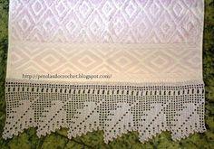 * Pérolas do Crochet: Barrados de crochet para toalhas