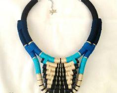 Atum su declaración collar tribales collar cuerda por DesignAmmA