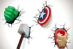 You can buy these at target marvel avengers 3d wall lights luminria 3d the avengers avengers wall lightsavengers aloadofball Images