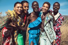 03. Title| Positive Psychology (image 2) HEALTH  Publication: Harpers Bazaar Arabia April 2017 Models: Ajak Deng, Grace Mahary, Jourdana Phillips, Lameka Fox, Nykhor Paul  Fashion Editor/Stylist: Katie Trotter  Hair Stylist: Seiji (hairstylist)