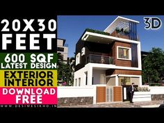 Small Space House Design 20x30 Feet With Car Parking || 2BHK House || 600 Sqf || Plan-2 - YouTube Story House, House 2, 20x30 House Plans, Space Car, Two Story Homes, House Elevation, Car Parking, Ground Floor, Design Projects