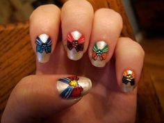 Love the Sailor Moon nails!