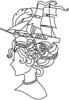 Embroidery Designs at Urban Threads - Marie Antoinette