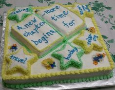 Marlow, New Hampshire Retirement Party Cakes, Retirement Celebration, Retirement Party Decorations, Retirement Countdown, Happy Retirement, Retirement Planning, Library Cake, Going Away Parties, Gifts For Librarians