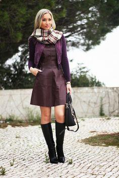 Novo Look do dia/Outfit com uma das cores ideais para o Outono/Inverno: o Burgundy. Dicas de Moda e Imagem  no Blog de Moda Style Statement. Tendências. Outono/Inverno. Moda. Fashion. Inspiração. Xadrez. Trends. Plaid.