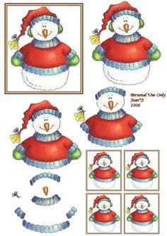 3D snowman embelies.