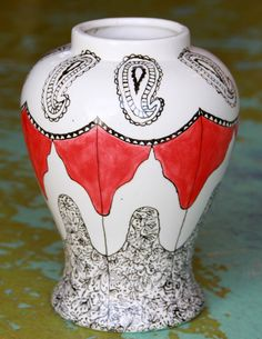 Hand Painted Ceramic Vase