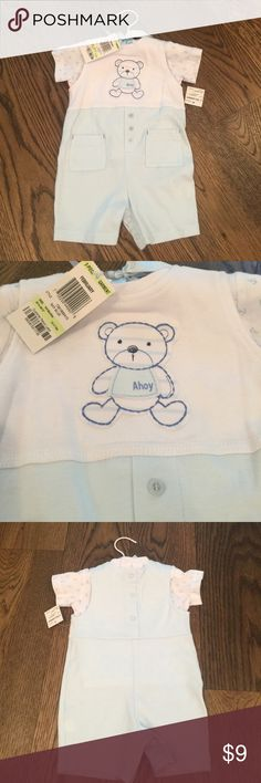Baby boy 3-6 month set NWT First Impressions 3-6 month set. Separate anchor detail shirt and teddy bear shortall. New with tags. First Impressions Matching Sets