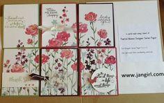 Painted Blooms One sheet wonder