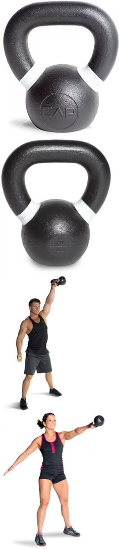Kettlebells 179814: Cap Barbell Cast Iron Competition Weight Kettlebell, 9-Pound, Black/White BUY IT NOW ONLY: $40.18