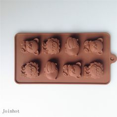 Venta caliente del envío gratis 1 unid diseño animal del silicón del chocolate del molde de silicona moldes para la torta / de la galleta bandeja de hielo molde de pastel de silicona