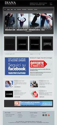 Online since May 2012,  Shops DIANA, abbigliamento Uomo, Donna, Sport e Shoes, Milano, Italy