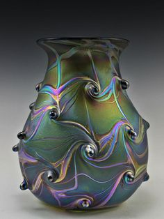 """177 The vase is  8"""" ( 20 cm ) tall and approximately  7'' ( 18 cm ) in diameter."""