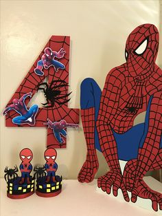 Spiderman foam decoration Red Birthday Party, Superhero Birthday Party, Birthday Party Decorations, Decoration Party, 3rd Birthday, Spiderman Theme Party, Spiderman 4, Fête Spider Man, Avengers Birthday