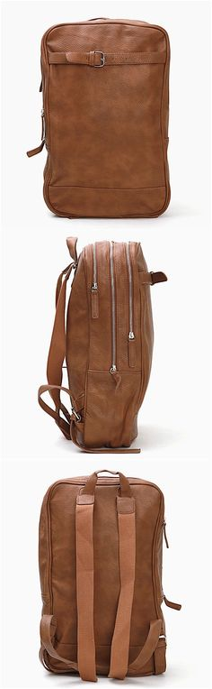 Accessories - Sophisticate Triple Zippered Leather Backpack - bag 21 for only 50.00 !!!