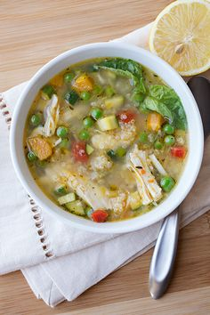 Lemony Chicken & Spring Veggie Soup:  Chicken soup just got a makeover for spring and we aren't mad about it. - Delish.com