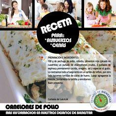 ¿Estás buscando una rica y fácil receta para la cena? No te pierdas la receta de la semana: CANELONES DE POLLO. Más información en http://cheilalitarazona.blogspot.com/2014/09/estas-buscando-una-rica-y-facil-receta_26.html