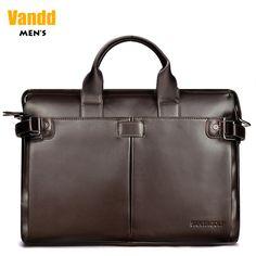 Aliexpress.com : Buy Vandd Men's Brown Genuine Leather Tote Handbag Briefcase With Shoulder Strap Zipper Messenger Bag For Business Travel New from Reliable handbag hook suppliers on Vandd Men. $98.00
