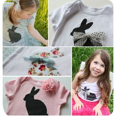 Love this bunny shirt!! I think Tallulah needs one for Easter...adorable with a tutu and a sweater!!