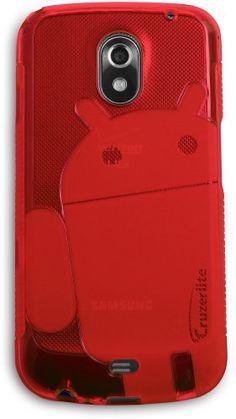 Red - Cruzer Lite Androidified A2 High Gloss TPU Soft Gel Skin Case - For Galaxy Nexus by Samsung (Verizon Wireless) [Cruzer Lite Retail Packaging]