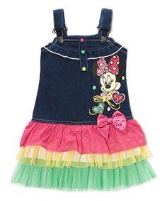 Love this Pink & Denim Minnie Mouse Jumper - Girls on #zulily! #zulilyfinds
