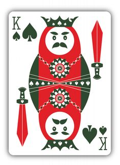Russian Folk Art deck by Natalia Silva