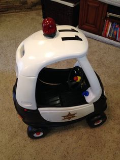 Cozy coupe makeover into cop car