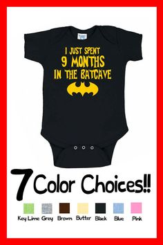 Batman I Just Spent 9 Months in the Batcave Onesie Future Superhero Boy Infant Great Birthday Christmas Present Superhero Gift Idea