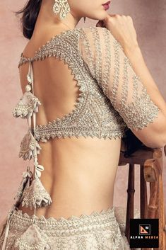 Bridal Wear All City - Fab weddings Indian Blouse Designs, Blouse Designs Catalogue, Wedding Saree Blouse Designs, Blouse Back Neck Designs, Fancy Blouse Designs, Lehenga Blouse Designs Back, Latest Saree Blouse Designs, Choli Blouse Design, Sari Bluse