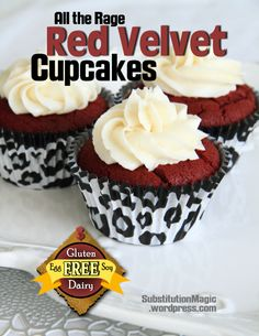 All the Rage Red Velvet Cupcakes-Gluten, Dairy, Egg and Soy Free | Substitution Magic