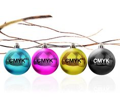CMYK swag, holiday style. Merry Christmas!