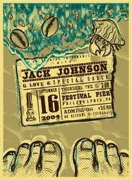 Jack Johnson concert poster