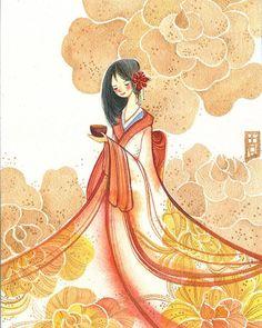 Lady in Kimono by Alina Chau