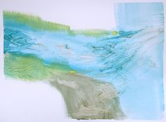 """by Lauren Adams,""""Painting 204"""", acrylic and molding paste on paper, 16""""W x 12""""L, Retail: $150 (unframed)"""