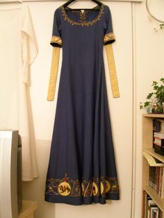 blue Bayeux-Dress | Racaire's Embroidery & Needlework…