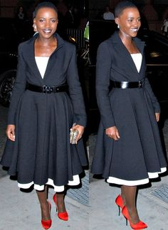 Lupita Nyong'o apparently she wakes up like this // Wow she is gorgeous!