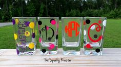 Monogrammed Shot Glass by TheSpunkyRooster on Etsy, $6.00