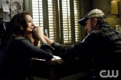 My Heart Will Go On - Samantha Ferris as Ellen, Jim Beaver as Bobby Singer in SUPERNATURAL on The CW. Photo: Michael Courtney/The CW 2011 The CW Network, LLC. All Rights Reserved.