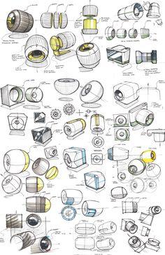 Industrial Design Portfolio, Industrial Design Sketch, Portfolio Design, Design Thinking Process, Design Process, Camera Sketches, Perspective Drawing Lessons, Logos Retro, Drawing Tutorials For Beginners